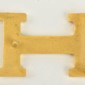 Hermes Accessories - HERMES: Black/Brown Reversible Leather H Belt (ut)